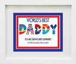 Personalised World's Best Superhero Print